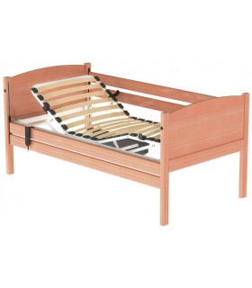 Cama hospital+ barandillas madera configurable