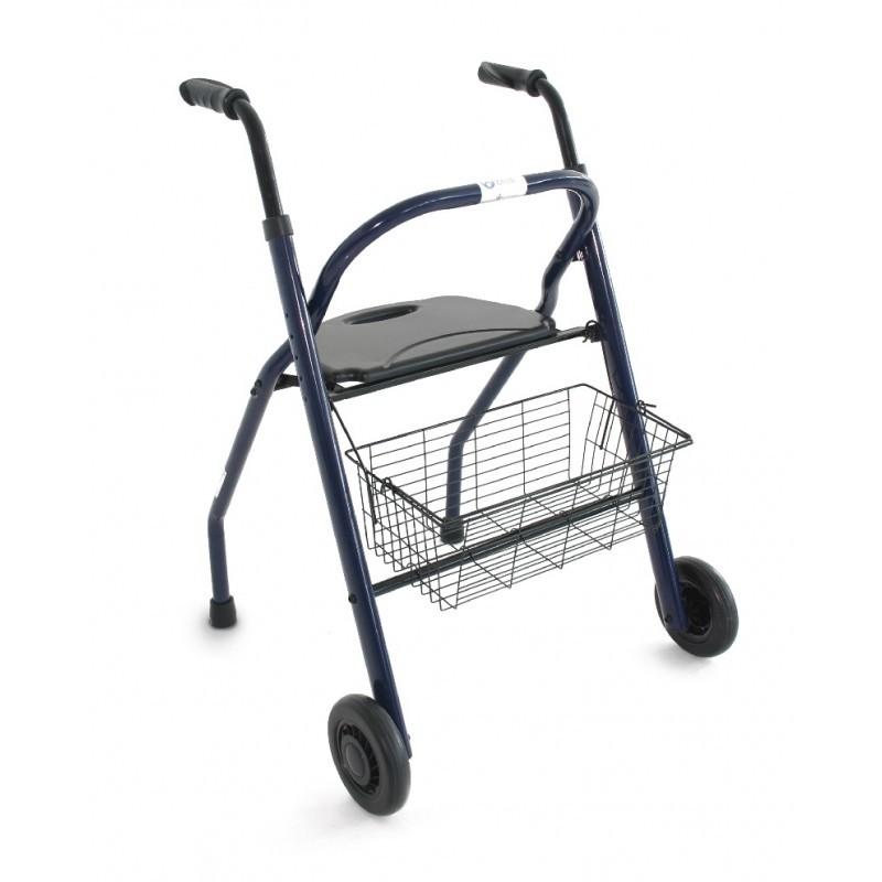 Andador plegable mayores con un peso max del usuario de 136kg.