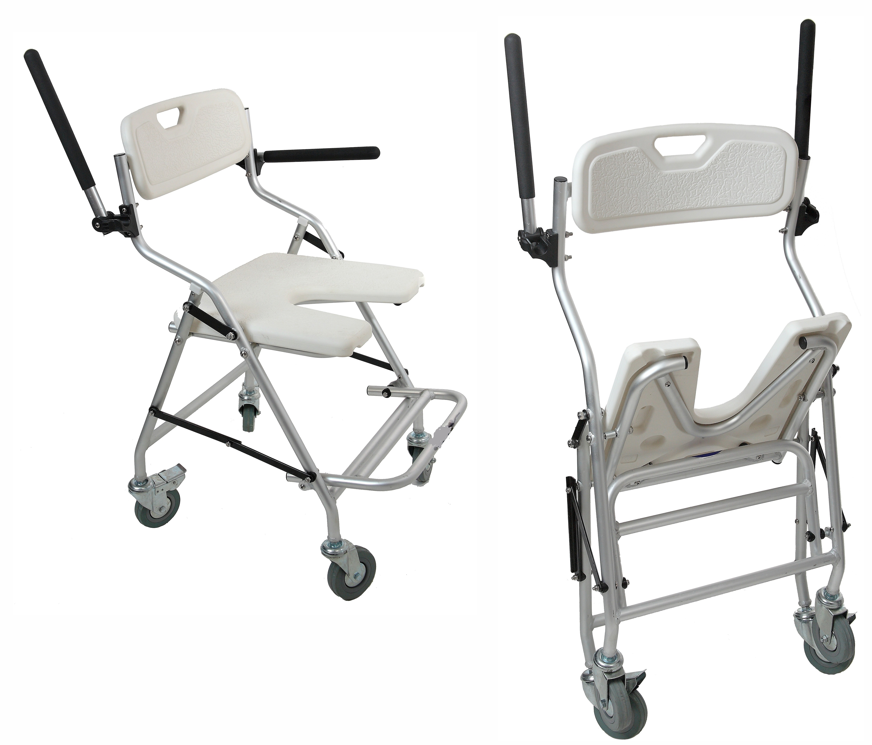 Sillas con ruedas para llevar a la ducha con o sin inodoro