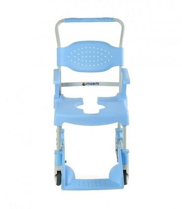 Silla wc con ruedas 150kg