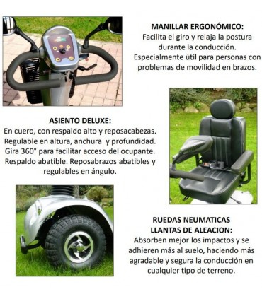 Libercar Scooter Grand Classe 500 W.  Hasta 150 kg
