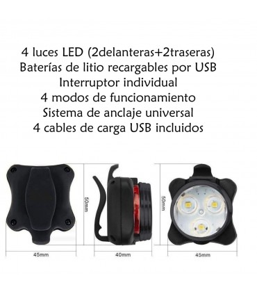 Kit luces delanteras+traseras