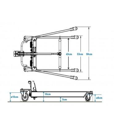 Grua electrica Fortia MINI |Dimensiones reducidas y 150 Kg.|Especial  domicilio.