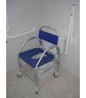 Sillas de ducha con ruedas para la ducha o el inodoro wc for Ruedas de goma para sillas