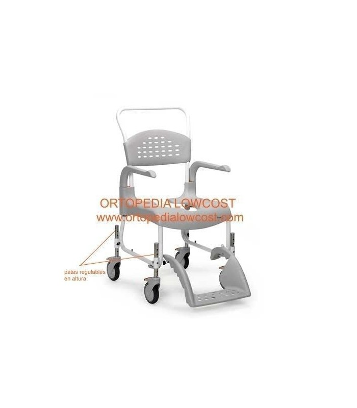 Comprar silla de ducha clean regulable en altura sillas de - Sillas regulables en altura ...
