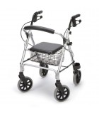 Andadores para adultos con ruedas y asiento.
